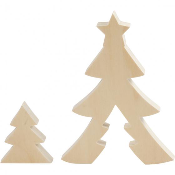 Creotime 2in1 Figuren kerstboom 8+20 cm x 6,5+14,5 cm x 2 cm