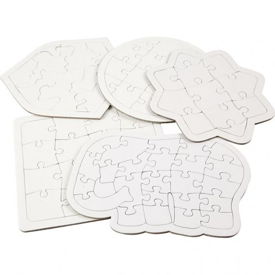 Creotime blanco puzzel 5x2 stuks