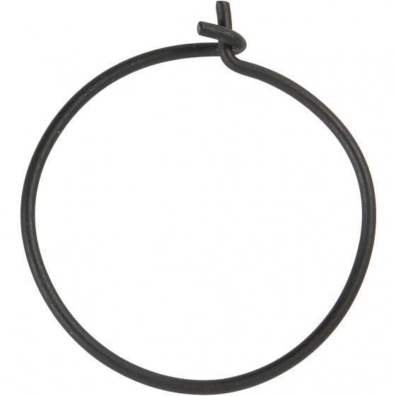 Creotime creolen 20 mm rond 8 stuks zwart