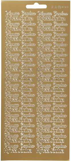 Creotime foliestickers Hyvaa Joulua 54 stuks goud