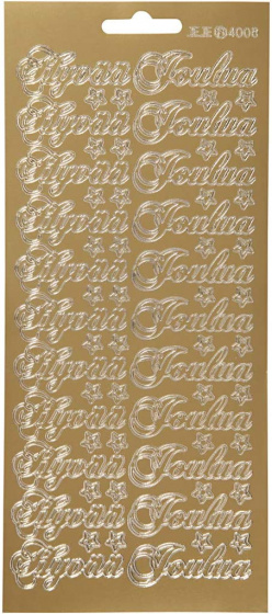Creotime foliestickers Hyvaa Joulua 66 stuks goud