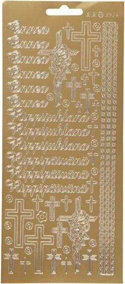 Creotime foliestickers Onnea Rippyhlana 58 stuks goud