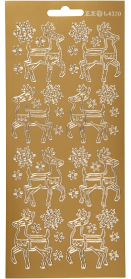 Creotime foliestickers rendier 1 stickervel goud