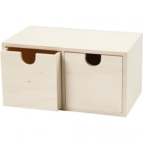 Creotime houten ladekast 17,5 cm blank