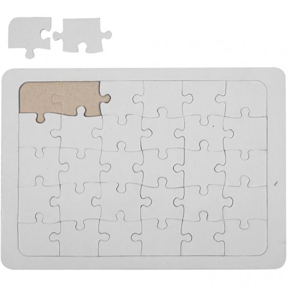 Creotime maak je eigen puzzel 15x21 cm wit