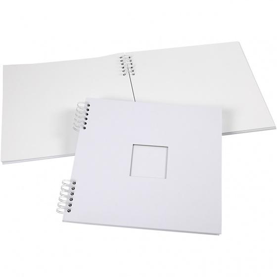 Creotime scrapbook spiraal gebonden 30,5 x 30,5 cm wit