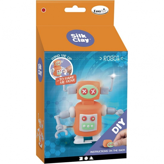 Creotime Silk Clay Creotime DIY robots: 110 gram oranje