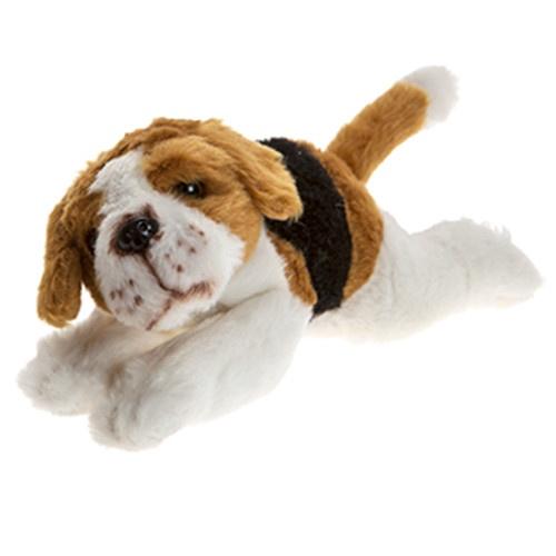 Crufts pluchen hondenknuffel Beagle 21 cm wit/bruin/zwart