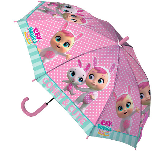 Cry Babies paraplu Dreamy junior 52 cm polyester paars/blauw