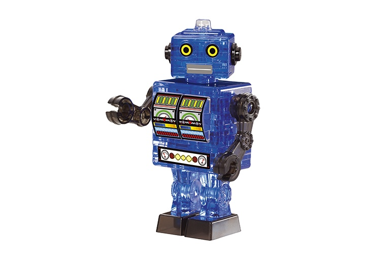 Crystal Puzzle 3D Robot blauw 39 delig