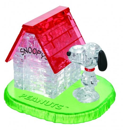 Crystal Puzzle 3D Snoopy en Zijn Huis: 50 Delig