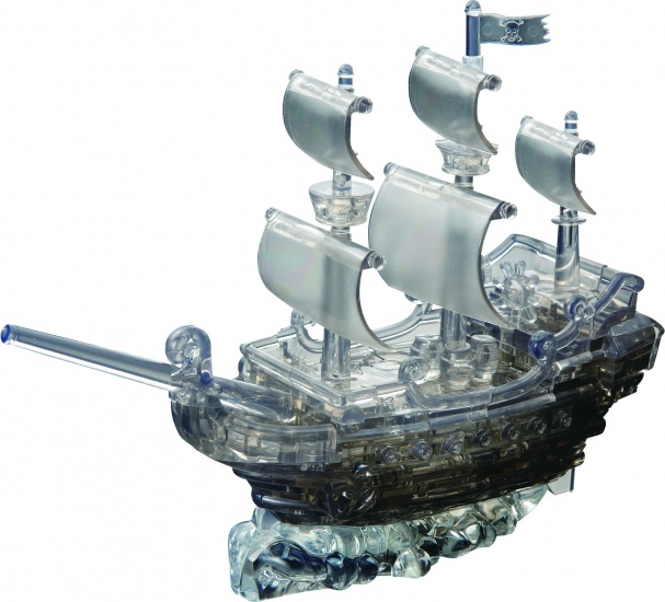 Crystal Puzzle 3D Piratenschip Zwart: 101 Delig