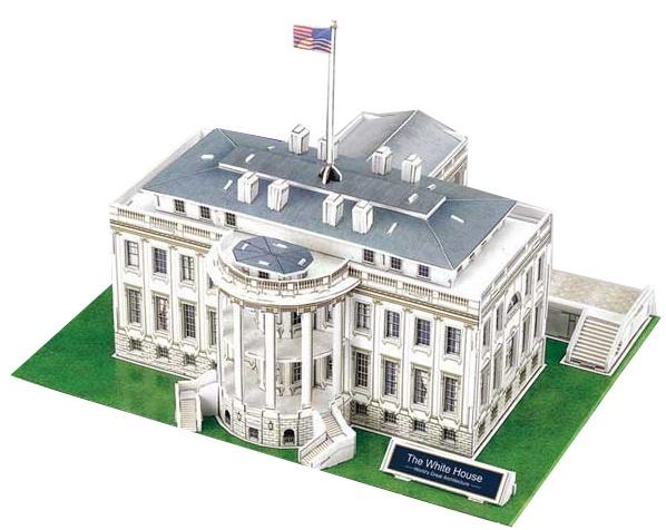 CubicFun 3D puzzel Witte Huis 64 delig