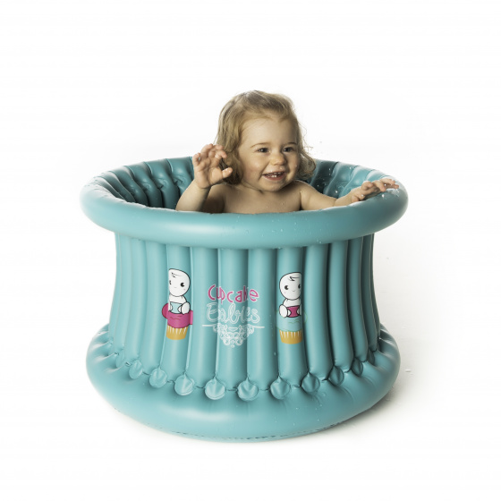 Cupcake Babies opblaaszwembad Big Bath 57 x 35 cm turquoise