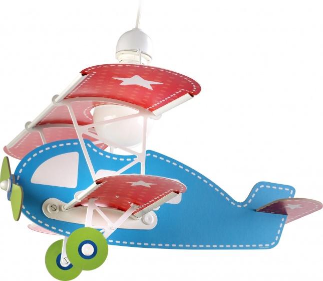 Dalber hanglamp Baby Plane 64 cm blauw/rood kopen