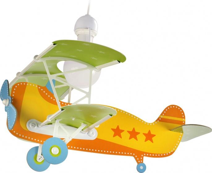 Dalber hanglamp Baby Plane 64 cm geel/groen kopen