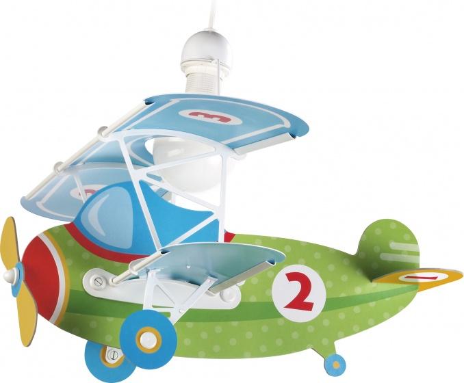 Dalber hanglamp Baby Plane 64 cm groen/blauw kopen