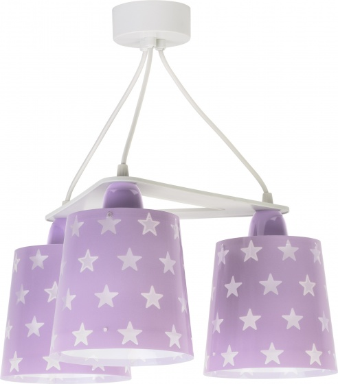 Dalber hanglampen Stars glow in the dark 20,5 cm paars