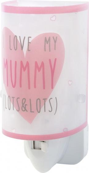 Dalber nachtlamp Mummy 13 cm roze