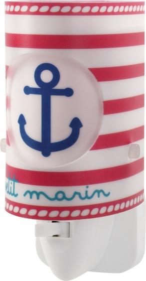 Dalber nachtlamp Petit Marin 13 cm wit-rood-blauw