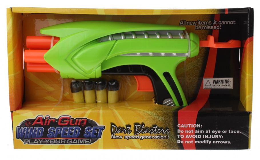 Dart Blaster Air Gun Wind Speed Set groen 28 cm 5 delig