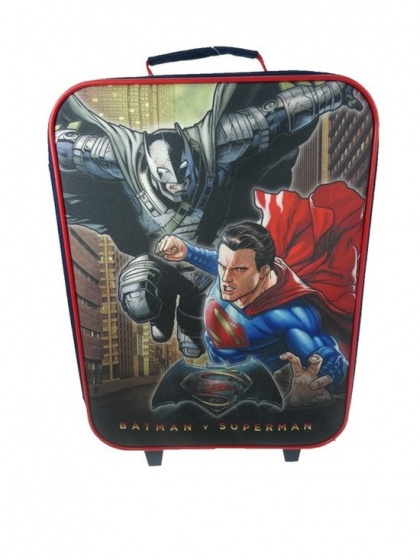 DC Comics Batman vs. Superman trolley 41 x 31 x 14 cm zwart