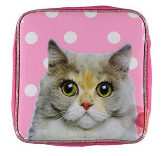 De Kunstboer Kinderrugzak Kat Roze 24 x 10 x 24 cm