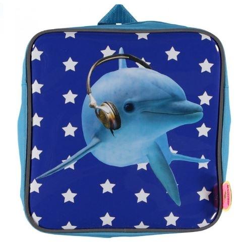 deKunstboer Kinderrugzak Flipper Blauw 24 x 10 x 24 cm