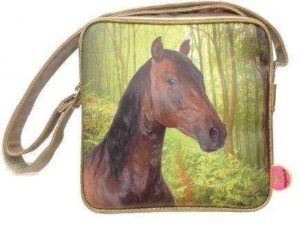 deKunstboer Schoudertas Paarden Goud 25 x 10 x 25 cm