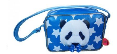 deKunstboer Schoudertas Panda Blauw 24 x 9 x 18 cm
