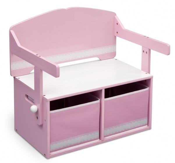 Delta Kids bank 3 in 1 roze hout 62 x 57 x 43 cm S