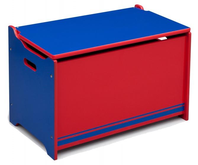 Opbergkist Hout Blauw-Rood