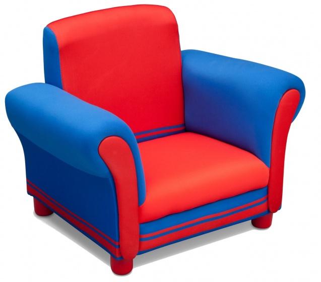 Delta Kids stoel rood/blauw pluche/hout 44 x 47 x 60 cm kopen