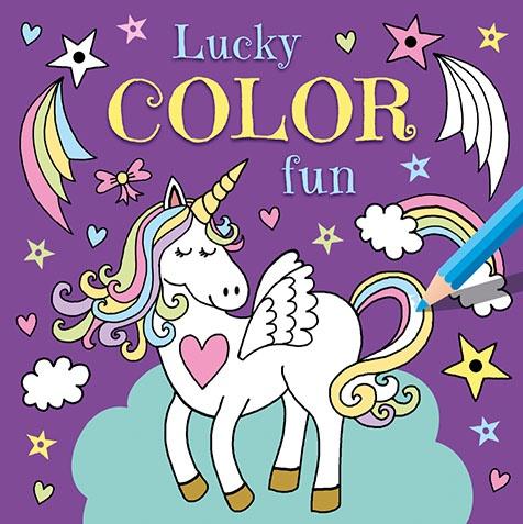 Lucky Couleur Amusant Livre De Coloriage De Licorne De Couleur Amusant