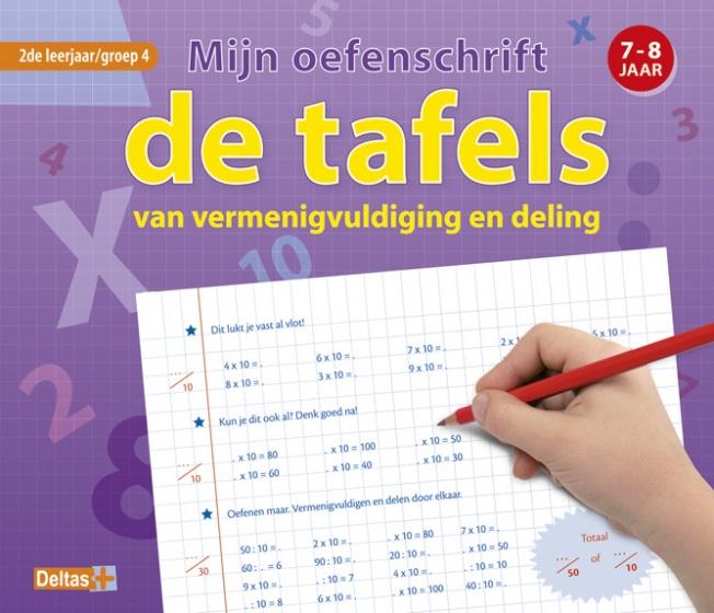 Oefenboek Mijn Oefenschrift De Tafels