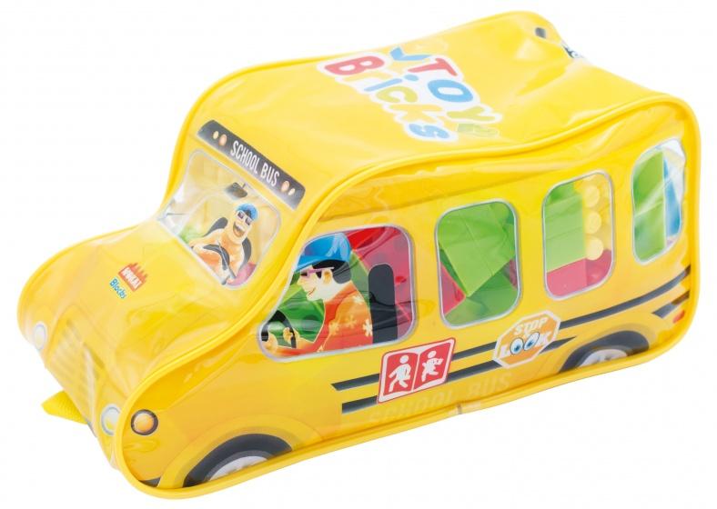 Diakakis bouwblokken schoolbus 100 delig