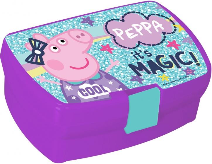 Diakakis broodtrommel Peppa Pig Magic 1 liter paars