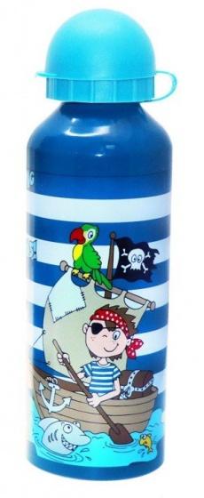Diakakis drinkfles aluminium jongens 500 ml blauw/lichtblauw