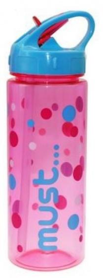 Diakakis pop up schoolbeker Must junior 500 ml roze/blauw