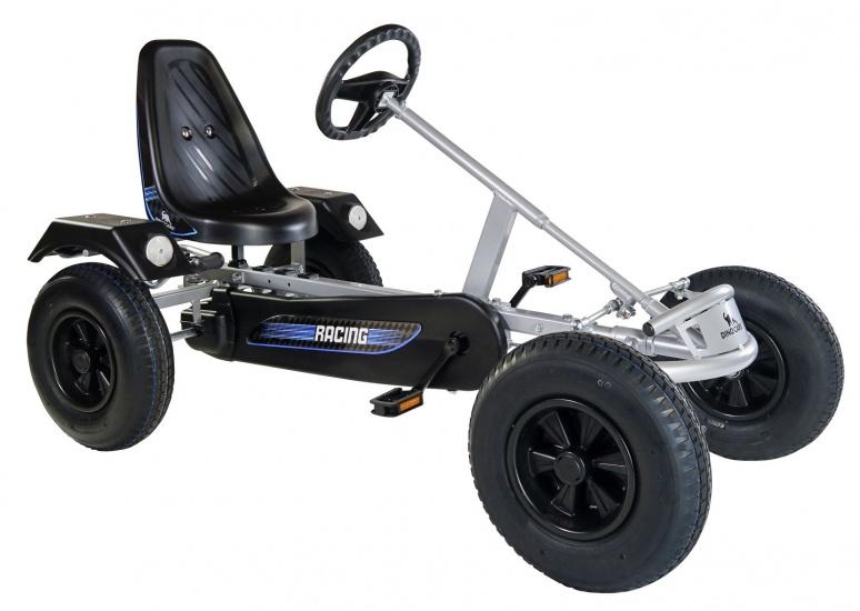 Dino Cars Sport Skelter Met Racebanden Zilver