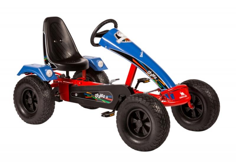 Dino Cars Stylez Skelter Met Off Road banden Rood / Blauw