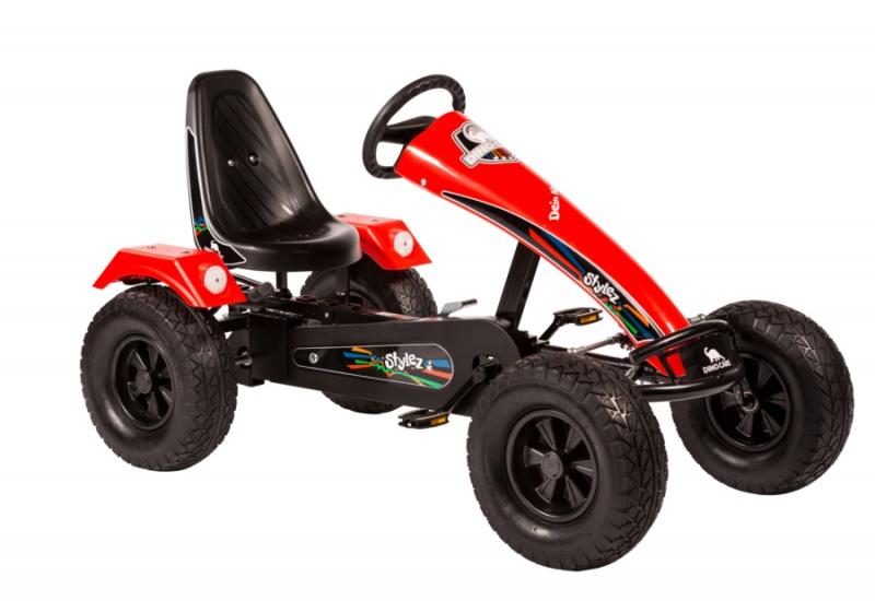 Dino Cars Stylez Skelter Met Off Road banden Zwart / Rood