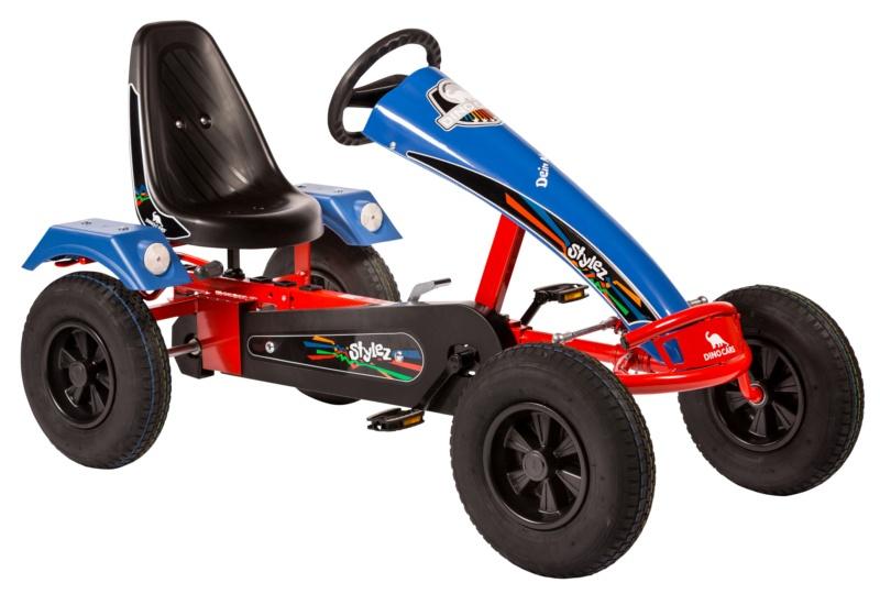 Dino Cars Stylez Skelter Met Racebanden Rood / Blauw