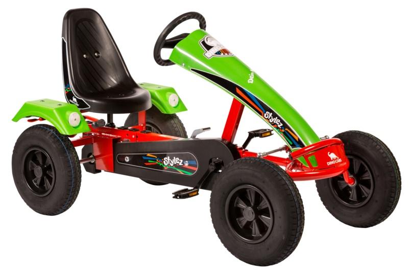 Dino Cars Stylez Skelter Met Racebanden Rood / Groen