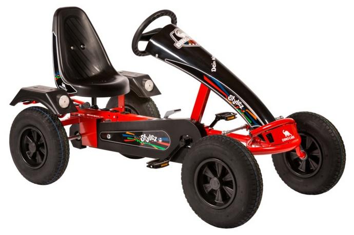 Dino Cars Stylez Skelter Met Racebanden Rood / Zwart