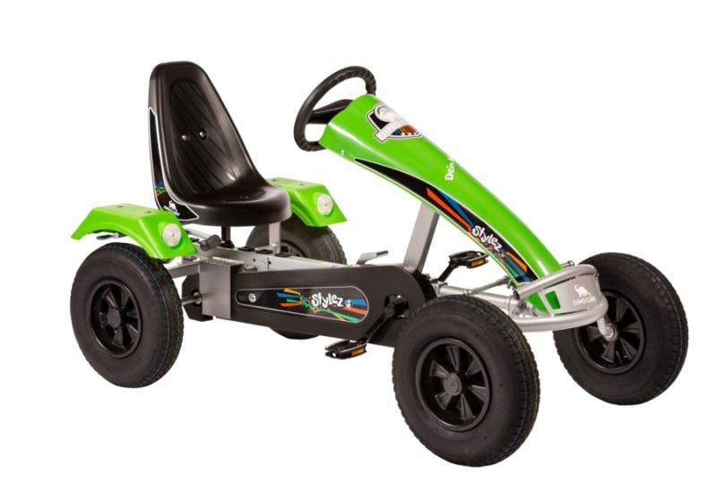 Dino Cars Stylez Skelter Met Racebanden Zilver / Groen
