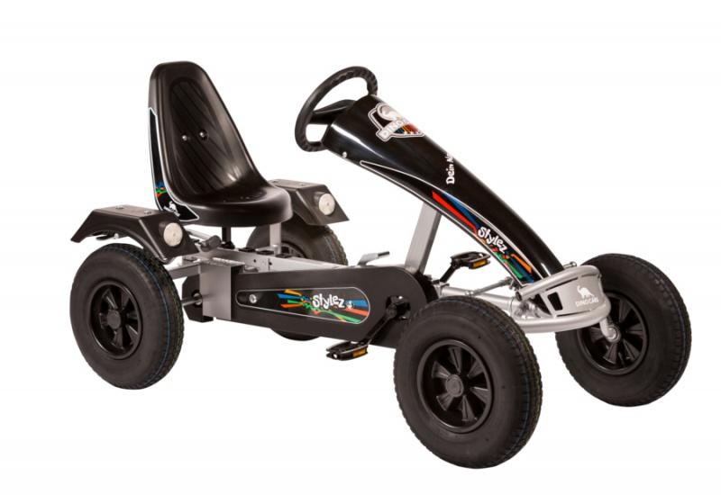 Dino Cars Stylez Skelter Met Racebanden Zilver / Zwart
