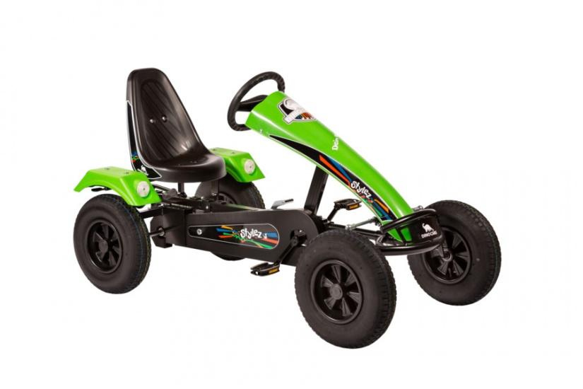 Dino Cars Stylez Skelter Met Racebanden Zwart / Groen