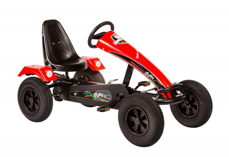 Dino Cars Stylez Skelter Met Racebanden Zwart / Rood