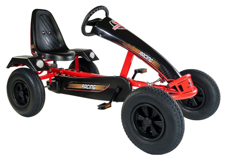 Dino Cars Super Sport BF3 Skelter Met Racebanden Rood / Zwart